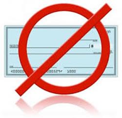 No Cheques